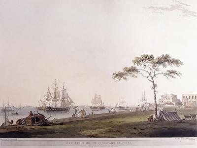 View Taken on the Esplanade, Calcutta, 1797-Thomas Daniell-Giclee Print