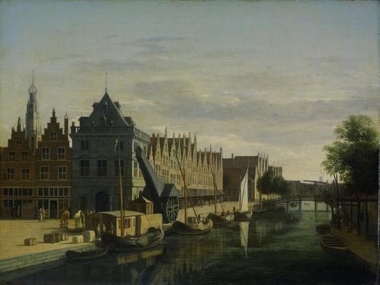 View the Waag at the Spaarne in Haarlem-Gerrit Adriaensz Berckheyde-Art Print