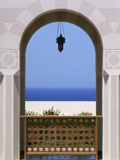 View Through Archway to Beach and Sea-Design Pics Inc-Photographic Print