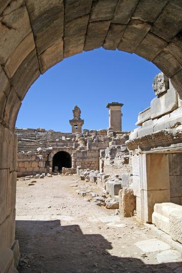 View Through the Vaulted Entrance of the Xanthos Theatre into the Orchestra Pit--Photographic Print