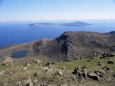 View to Isle of Eigg, from Hallival, Isle of Rum, Inner Hebrides, Scotland, United Kingdom-Richard Ashworth-Photographic Print