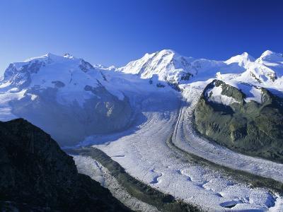 View to Monte Rosa, Liskamm and the Gorner Glacier, Gomergrat, Swiss Alps, Switzerland-Ruth Tomlinson-Photographic Print