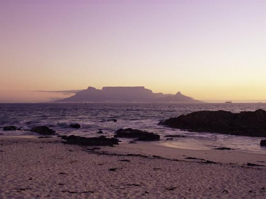 View to Table Mountain from Bloubergstrand, Cape Town, South Africa, Africa-Yadid Levy-Photographic Print