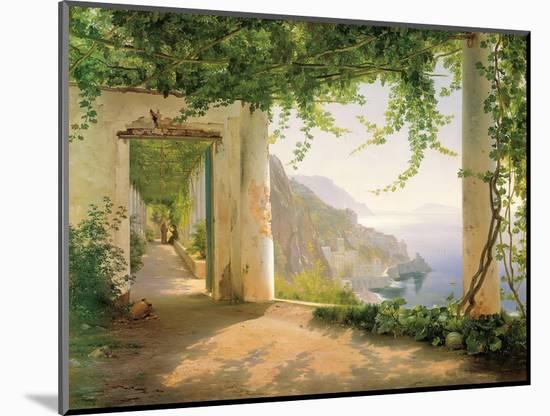 View to the Amalfi Coast-Carl Frederic Aagaard-Mounted Art Print