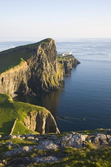 View to the Clifftop Lighthouse at Neist Point-Ruth Tomlinson-Photographic Print