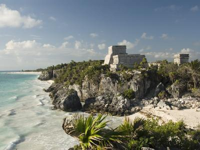 View to the North and El Castillo at the Mayan Ruins of Tulum, Quintana Roo-Richard Maschmeyer-Photographic Print