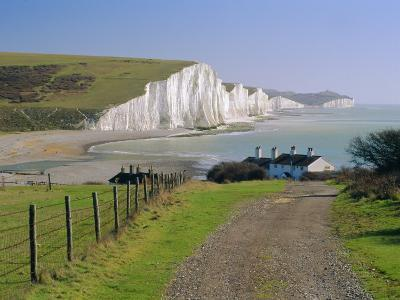 View to the Seven Sisters from Seaford Head, East Sussex, England, UK-Ruth Tomlinson-Photographic Print