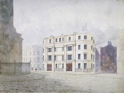 View to the South at the West End of King William Street, City of London, 1850-Frederick Napoleon Shepherd-Giclee Print