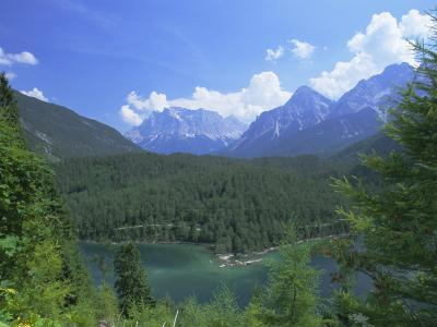 View to the Zugspitze Across the Fernsteinsee, Tirol (Tyrol), Austria, Europe-Ruth Tomlinson-Photographic Print