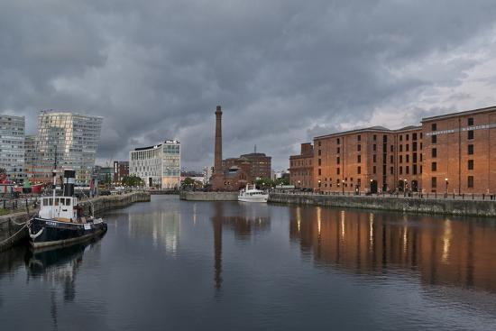 View Towards Albert Dock, Liverpool, Merseyside, England-Paul McMullin-Photo