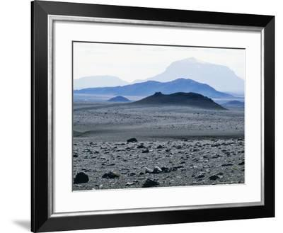View Towards Barren Interior, North-East Iceland-Richard Packwood-Framed Photographic Print
