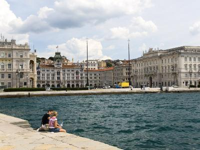 View Towards City from the Molo Audace, Trieste, Friuli-Venezia Giulia, Italy, Europe-Lawrence Graham-Photographic Print