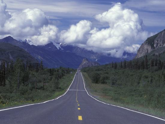 View Towards Lion's from the Road, Glenn Highway, Alaska-Rich Reid-Photographic Print