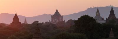 View Towards Old Bagan, with Ananda Temple Pagoda and Thatbyinnyu Temple at Sunset, Bagan (Pagan)-Stephen Studd-Photographic Print