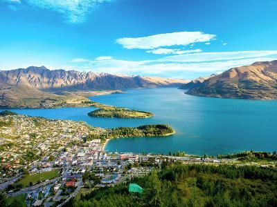 View Towards Queenstown, South Island, New Zealand-Miva Stock-Photographic Print