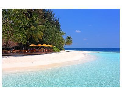 View towards the Angsana Ihuru Hotel, Ihuru Island, North Male Atoll, Maldives--Art Print