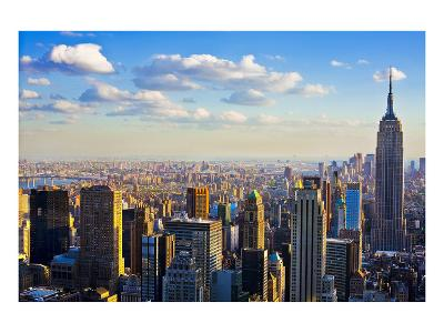 View towards the Empire State Building, Manhattan, New York City, New York, USA--Art Print