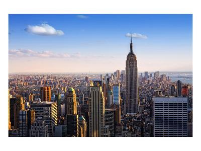 View towards the Empire State Building, Manhattan, New York City, New York, USA--Art Print
