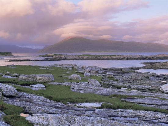 View Towards the Isle of Lewis and Old Schoolhouse, Taransay, Outer Hebrides, Scotland-Lee Frost-Photographic Print