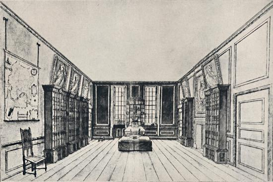 'View Towards the Thames in Samuel Pepys's Library, York Buildings', 1928-Unknown-Giclee Print