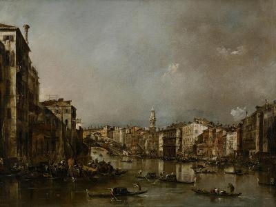 View Up the Grand Canal Toward the Rialto, C.1785-Francesco Guardi-Giclee Print
