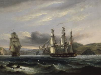 View up the Teign-Thomas Luny-Giclee Print