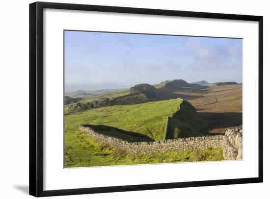 View West from Kings Hill to Housesteads Crags and Cuddy's Crags-James Emmerson-Framed Photographic Print