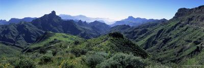 View West from Route Gc210, with Roque Bentayga on the Left, Gran Canaria, Canary Islands, Spain-Kim Hart-Photographic Print