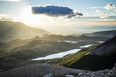 Viewpoint Looking Back At El Chalten At Sunrise - Santa Cruz Province, Argentina-Dan Holz-Photographic Print
