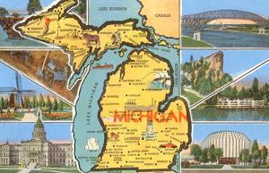 Views and Map of Michigan