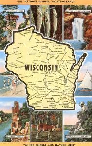 Views and Map of Wisconsin