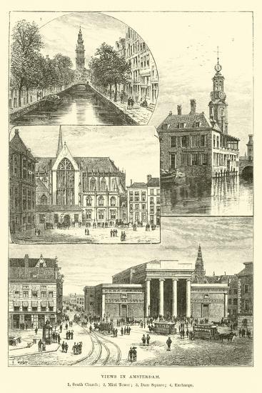Views in Amsterdam--Giclee Print