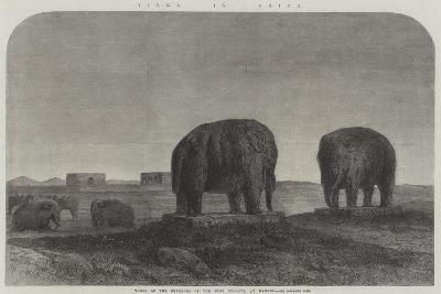 Views in China, Tombs of the Emperors of the Ming Dynasty, at Nankin--Giclee Print