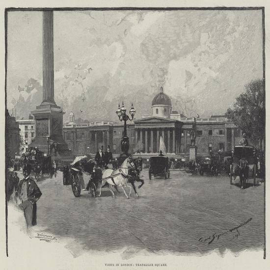 Views in London, Trafalgar Square-George L. Seymour-Giclee Print