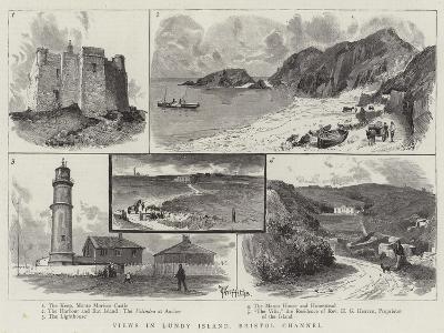 Views in Lundy Island, Bristol Channel--Giclee Print