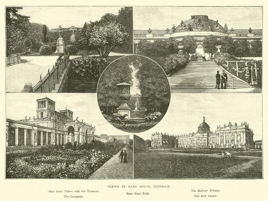 Views in Sans Souci, Potsdam--Giclee Print