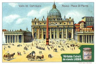 Views of Capitals: St Peter's Square, Rome, C1900--Giclee Print