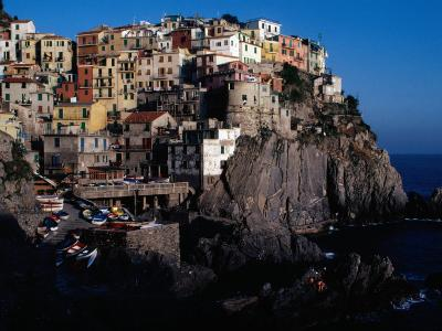 """Views of Cliff-Top Village from Via Dell"""" Amore, Manarola, Italy-Jeffrey Becom-Photographic Print"""