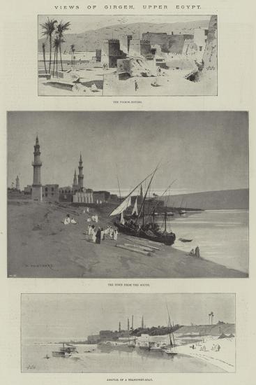 Views of Girgeh, Upper Egypt-Charles Auguste Loye-Giclee Print