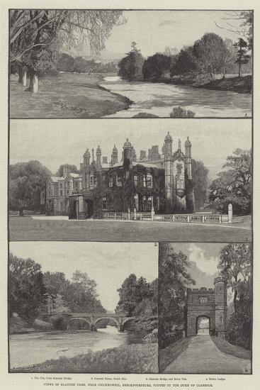 Views of Glanusk Park, Near Crickhowell, Brecknockshire, Visited by the Duke of Clarence--Giclee Print