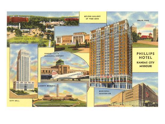 Views of Kansas City, Missouri, Phillips Hotel--Art Print