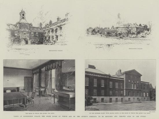Views of Kensington Palace-Joseph Holland Tringham-Giclee Print