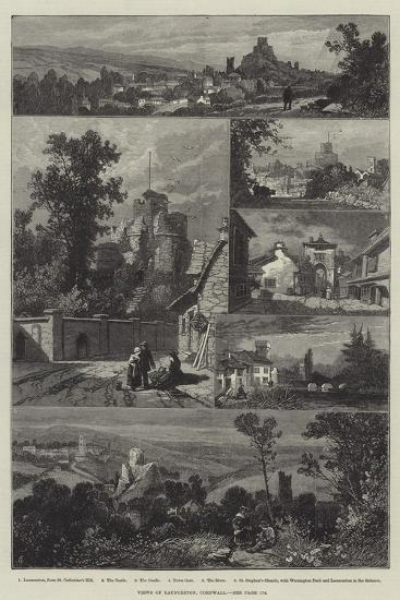 Views of Launceston, Cornwall-James Burrell Smith-Giclee Print