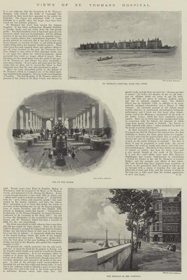Views of St Thomas's Hospital--Giclee Print