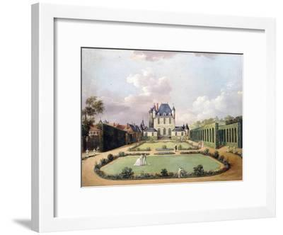 Views of the Chateau de Mousseaux and its Gardens-Jean François Hue-Framed Giclee Print