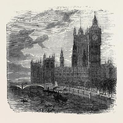 Views on the Embankment, Westminster, London, 1870, UK--Giclee Print
