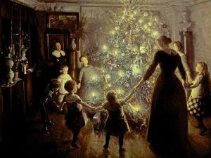 Silent Night, 1891 by Viggo Johansen