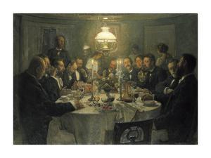 The Artists' Gathering by Viggo Johansen