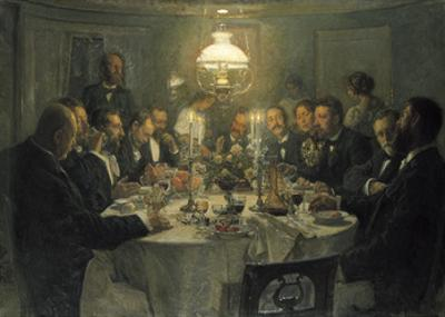 The Artists' Gathering by Viggo Johansen