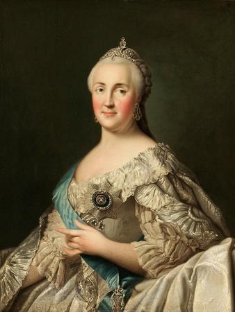 Portrait of Empress Catherine II (1729-179), C. 1780